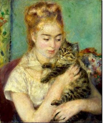 """""""Julie Manet con gatto"""", Auguste Renoir"""