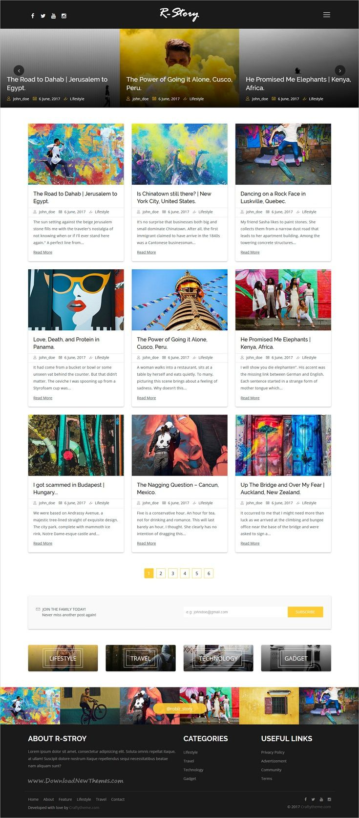R-Story is clean and modern design responsive #bootstrap