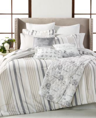 grey and beige bedding grey stripes