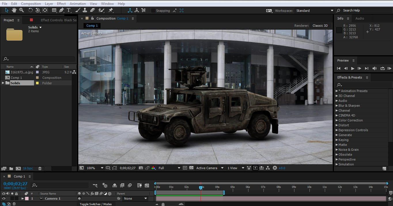 Car wheel animation After effects Element 3d tutorial