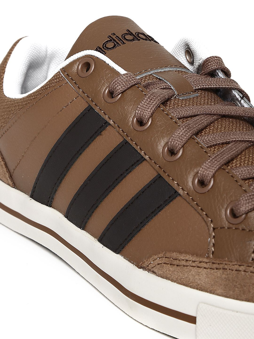 adidas brown leather shoe
