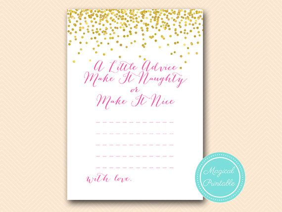 advice for the bride to be make it naughty or by magicalprintable