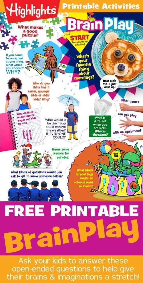 BrainPlay October 2018 | Best Activities for Kids | School