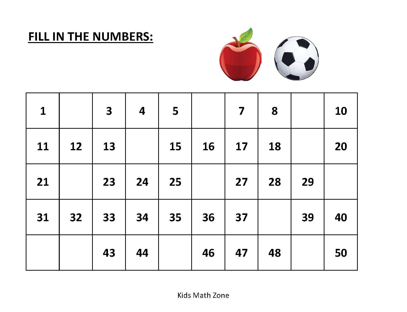 Missing Numbers 10 Printable Worksheets Preschool