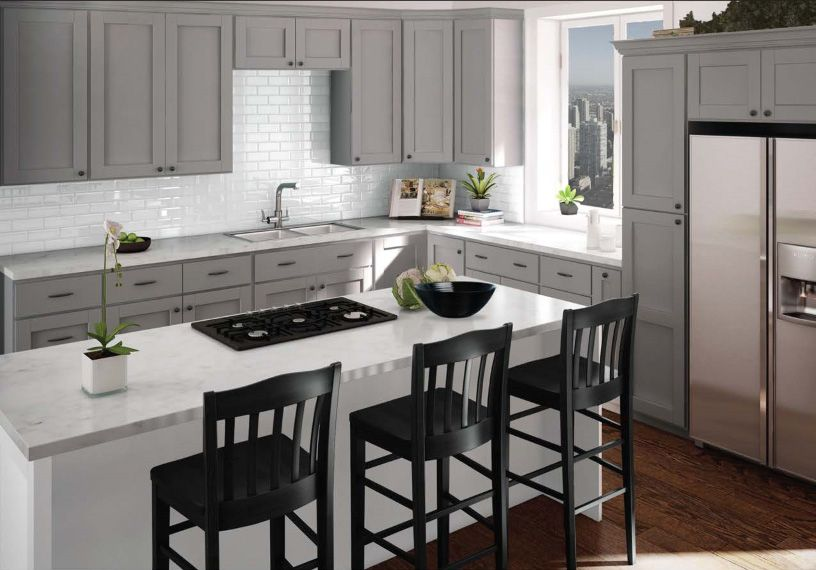 Imperial Grey Kitchen Cabinets | Sunnyford | Grey kitchen ...