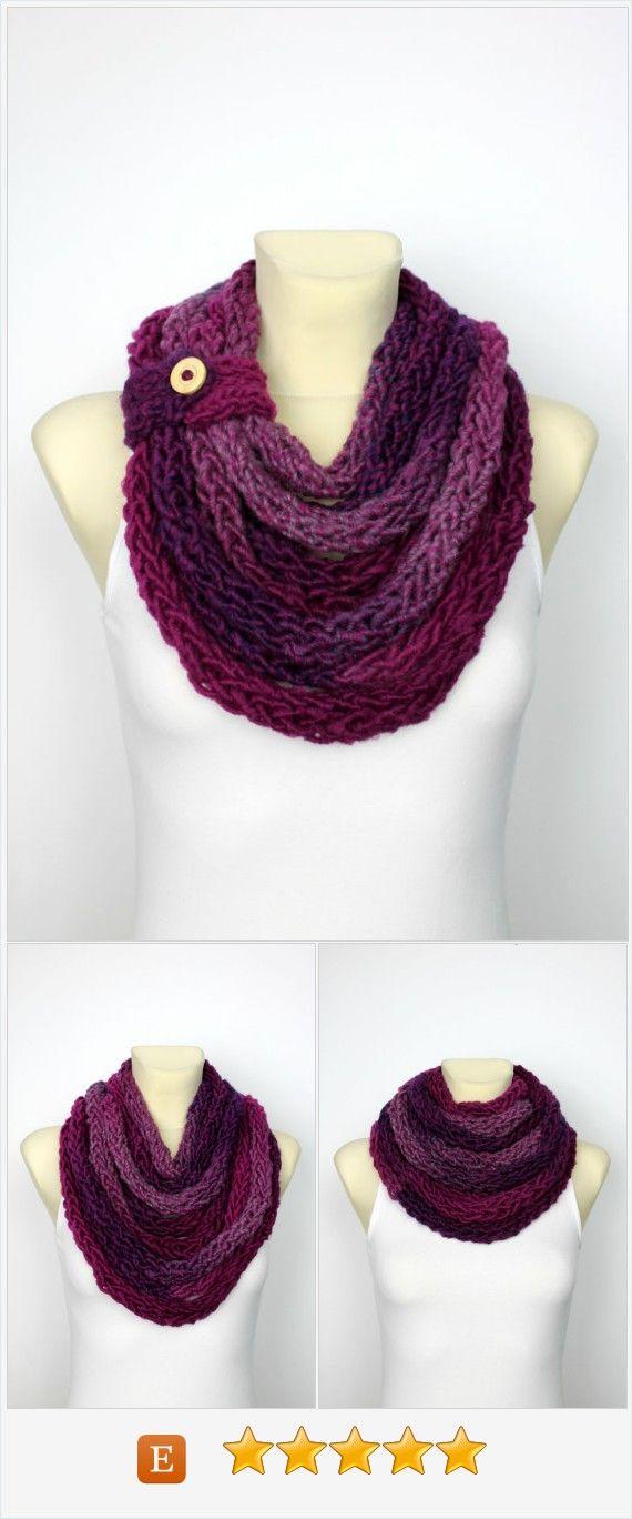 Purple Snood Women Ultra Violet Scarf Knit Infinity Scarf Purple ...