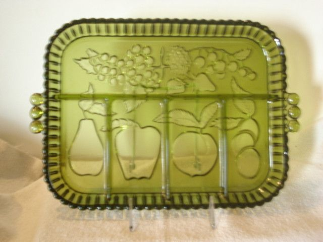 "- Indiana Glass Company in ""Tiara"" design; - Vintage ... Bumpy Texture Fruit"