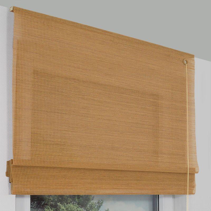 Bambusrollo Als Raffrollo Variante In Der Farbe Buche Bambus