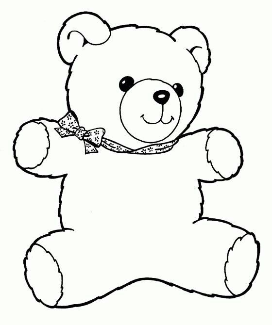 Teddy Bear Coloring Page Printable Patterns Illustrations