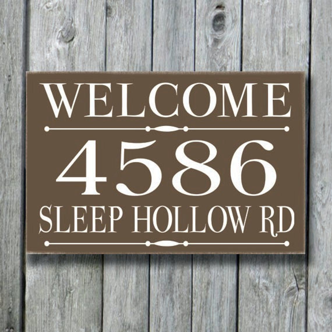 Address Plaque, Custom House Number Sign, Personalized
