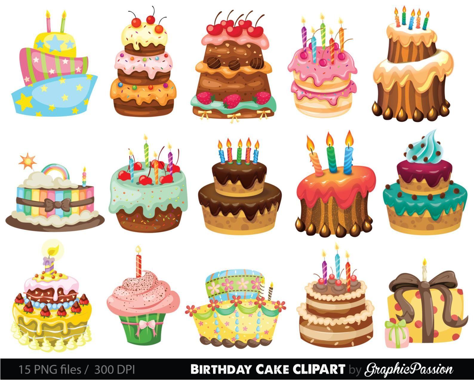 Birthday Cake Clipart Cake Illustration Birthday Cake Etsy Birthday Cake Illustration Cake Illustration Cake Drawing
