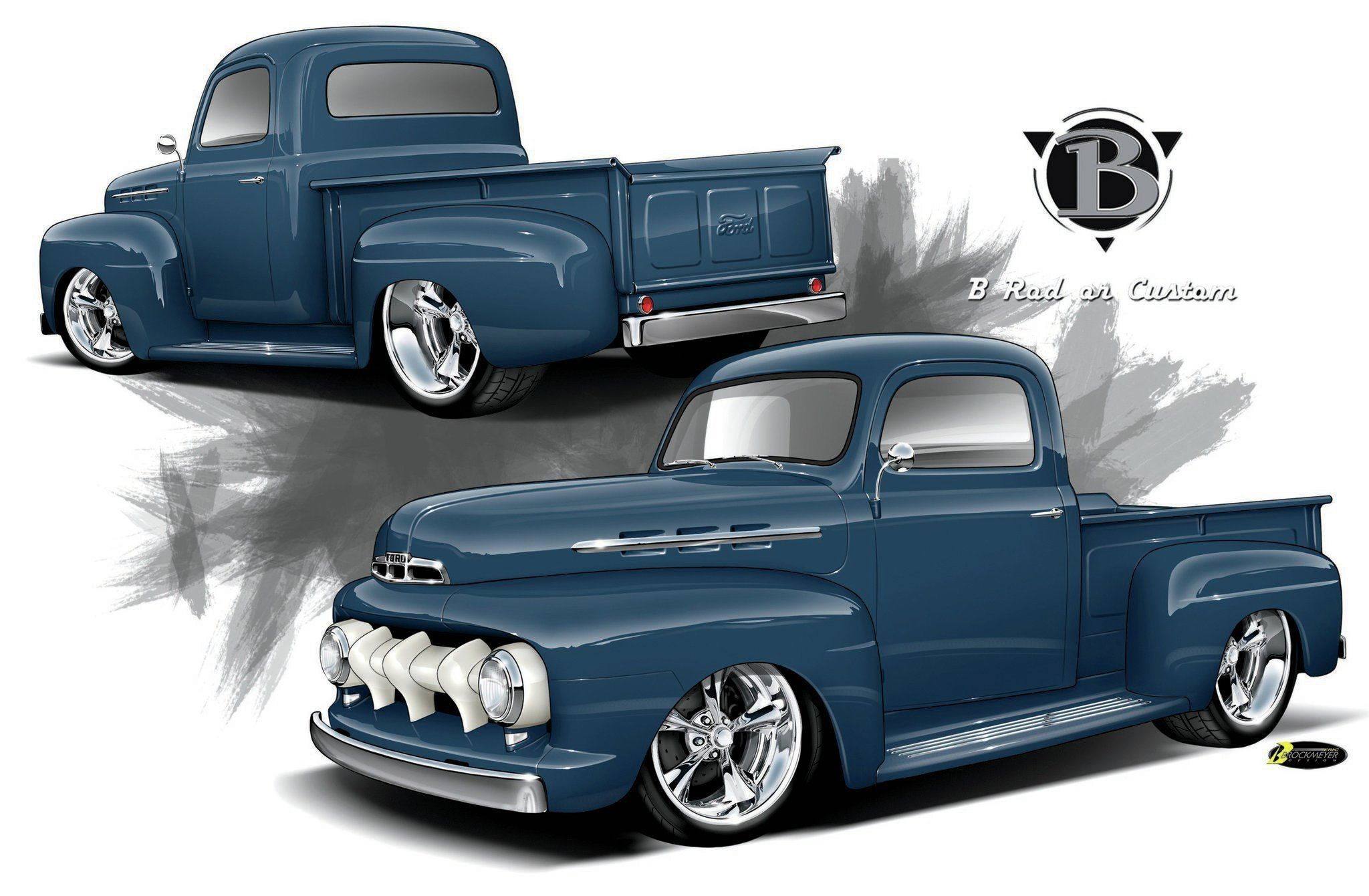 Res 2048x1340 Excellent Ford F Pickup Rendering With Custom Chevy Trucks Wallpaper Classic Ford Trucks Classic Chevy Trucks 1952 Ford Truck