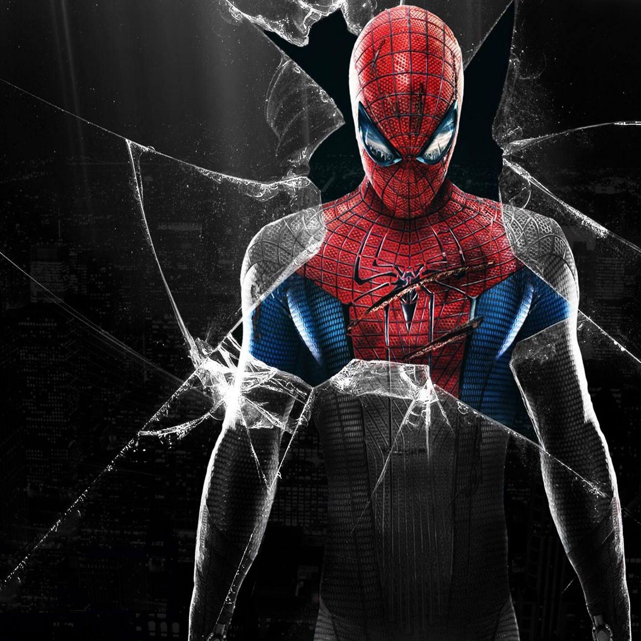 Spiderman wallpaper fond ecran ipad retina 4 fonds d for Theme ecran