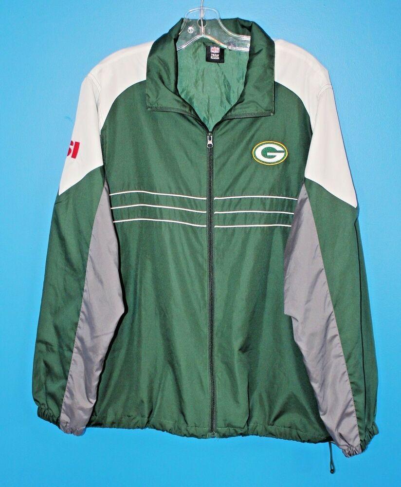 Green Bay Packers Mens Windbreaker Jacket Large Reebok Nfl Team Apparel Football Reebok Windbreaker Mens Windbreaker Nfl Team Apparel Team Apparel [ 1000 x 824 Pixel ]