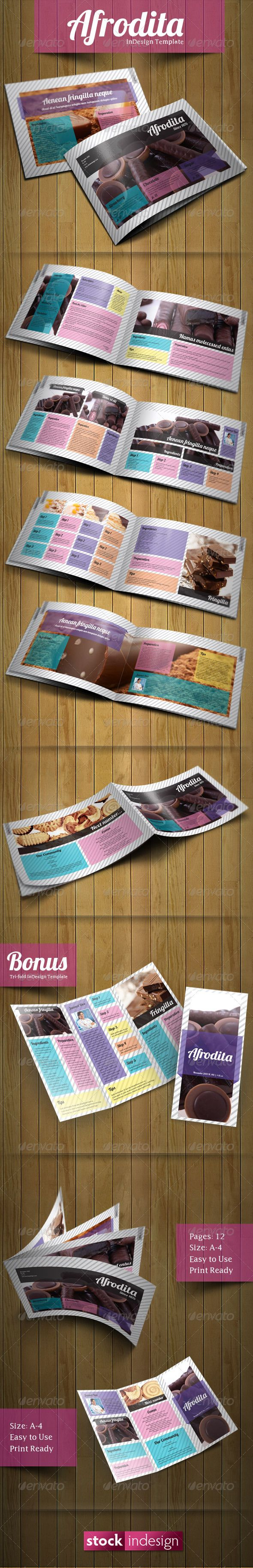 Afrodita Brochure: Modern & Clean  #GraphicRiver        Features  Size: 29.7cm x 21cm 12 pages 2 Master Pages Easy to Use Print Ready BONUS = Tri-fold InDesign Template        Created: 31January12 GraphicsFilesIncluded: InDesignINDD #AIIllustrator Layered: Yes MinimumAdobeCSVersion: CS4 PrintDimensions: 11.69x8.27 Tags: brochuretemplate #clean #creative #elegant #indesigntemplate #modern