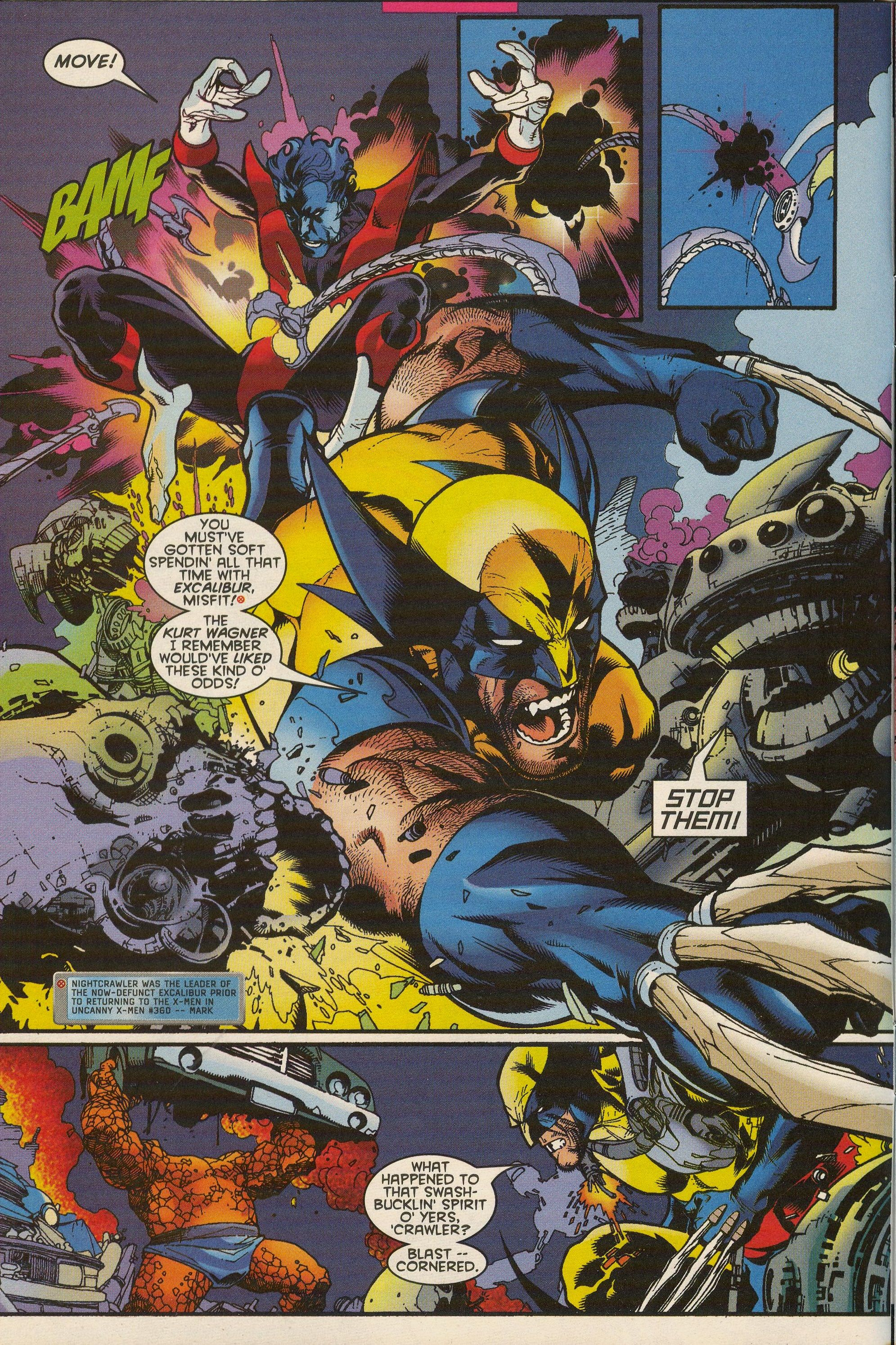 Getting Soft From Wolverine 140 Jul 1999 Nightcrawler The Incredibles Splash Page