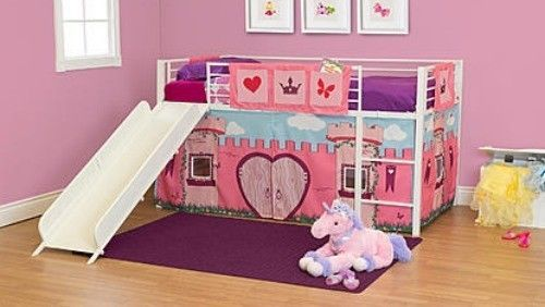 Bunk Bed Curtain Princess Loft Twin Play Kids Bedroom Girls Room Toddler Set Twin Loft Bed Girls Bedroom Furniture Bedroom For Girls Kids