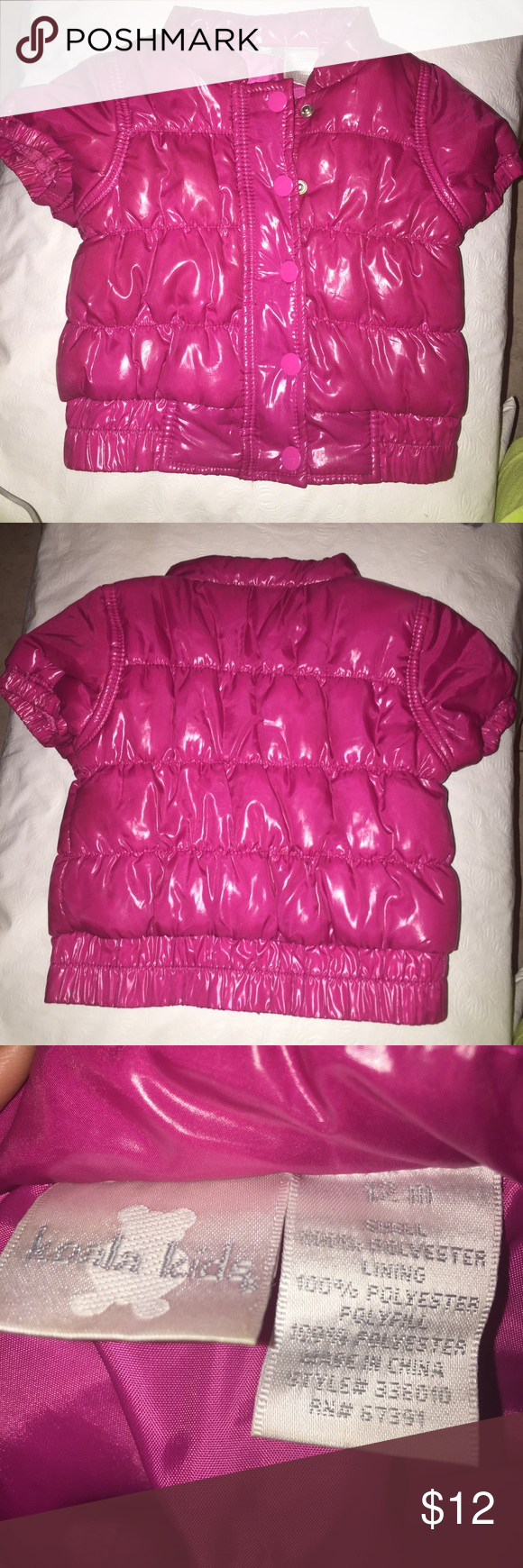 Baby Girls Bomber Coat Pink Koala Kids Bomber Coat size 12 months in excellent Condition Koala Kids Jackets & Coats Puffers