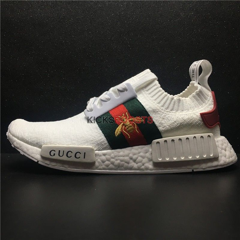 low priced ca558 93aff Custom Adidas NMD R1 PK x Gucci BEE White | Runway fashion ...