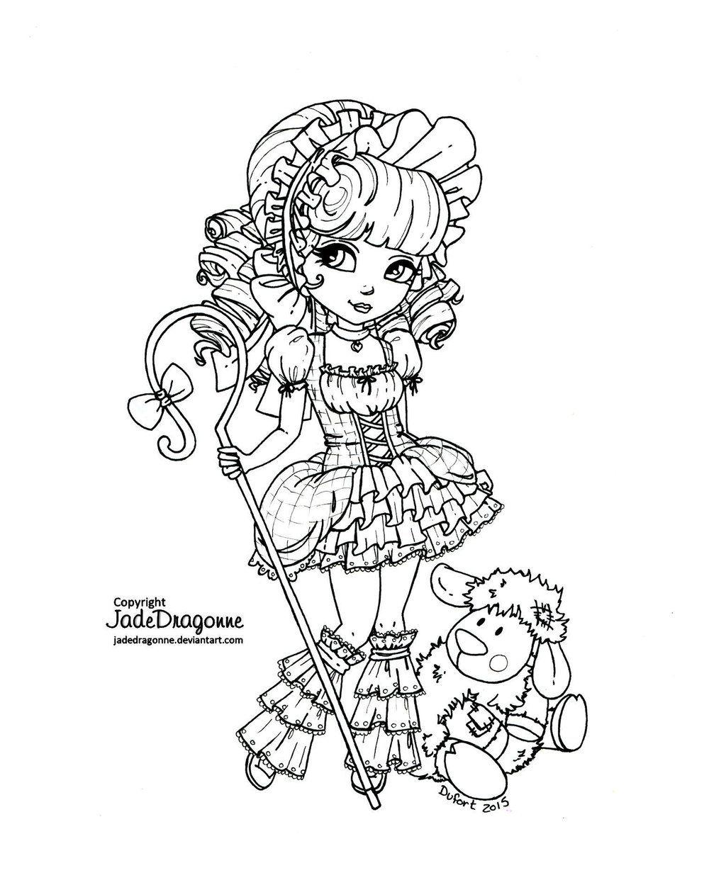 Mary\'s little lamb - Lineart by JadeDragonne.deviantart.com on ...