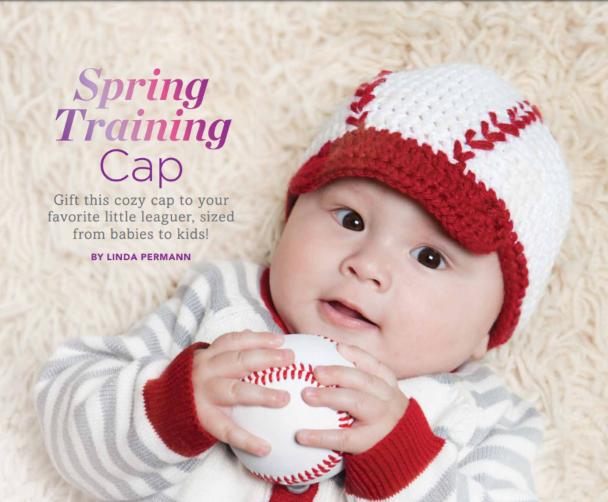 Baseball Crocheted Training Cap Free Crochet Pattern In 2020 Crochet Baby Cap Baseball Crochet Pattern Crochet Baseball Hat