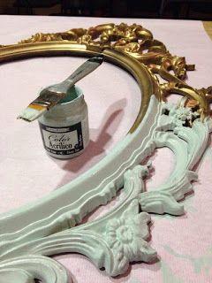 Pintando con la chalk paint o pintura a la tiza - Pintar muebles viejos ...