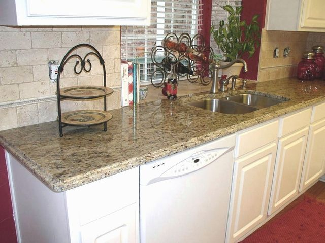 Great Complimentary Backsplash For Santa Cecilia Granite Countertops