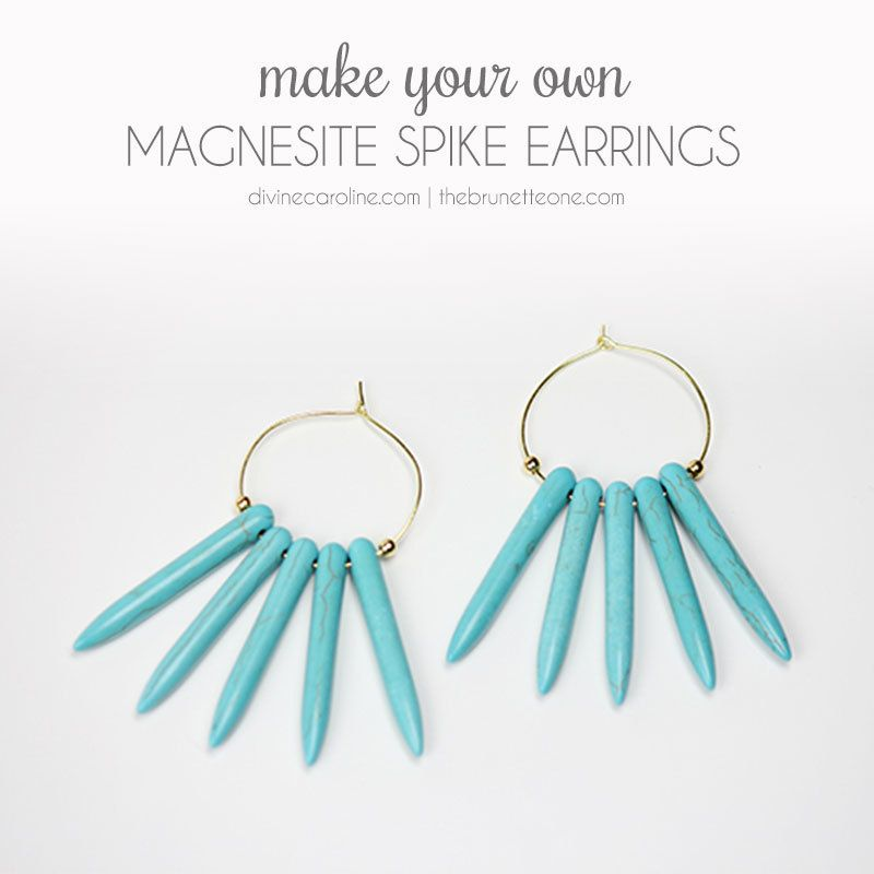 When the summer heat is getting to you and the thought of layering on jewelry is too much to bear, simply put on these bold spiky earrings. #DIY #Earrings