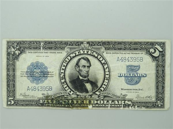 US 1923 Silver Certificate Five Dollar Bill | collectibles ...