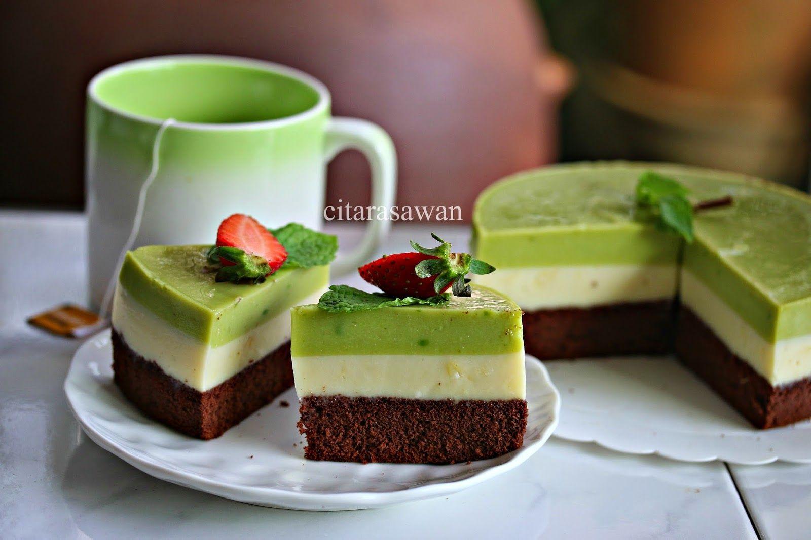Chocolate Avocado Mousse Cake Resipi Citarasawan Kue Alpukat Coffee Cake Makanan
