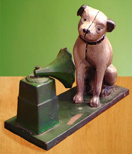 Old RCA Victor NIPPER Dog Cast Iron Bank ~ Vintage Collection