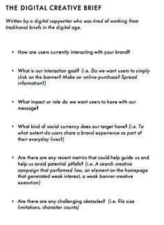 Project brief template creative brief template pinterest digital creative brief flashek Choice Image