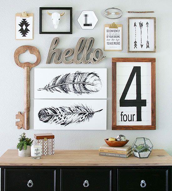 Gallery Wall Ideas to Copy ASAP Letras, Quiero y Decoración - paredes con letras