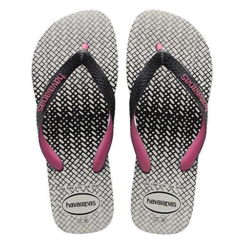 e138968a0 Havaianas Top Optical Zig Zag Black Pink Orchid Flip Flops Price From   £14.75