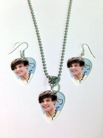One Direction Earrings And Necklace Set Louis Necklace Set One Direction Earring Set