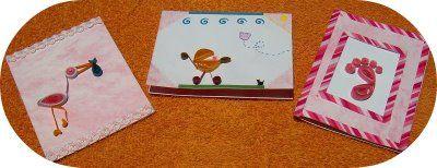 tarjetas para baby shower en filigrana
