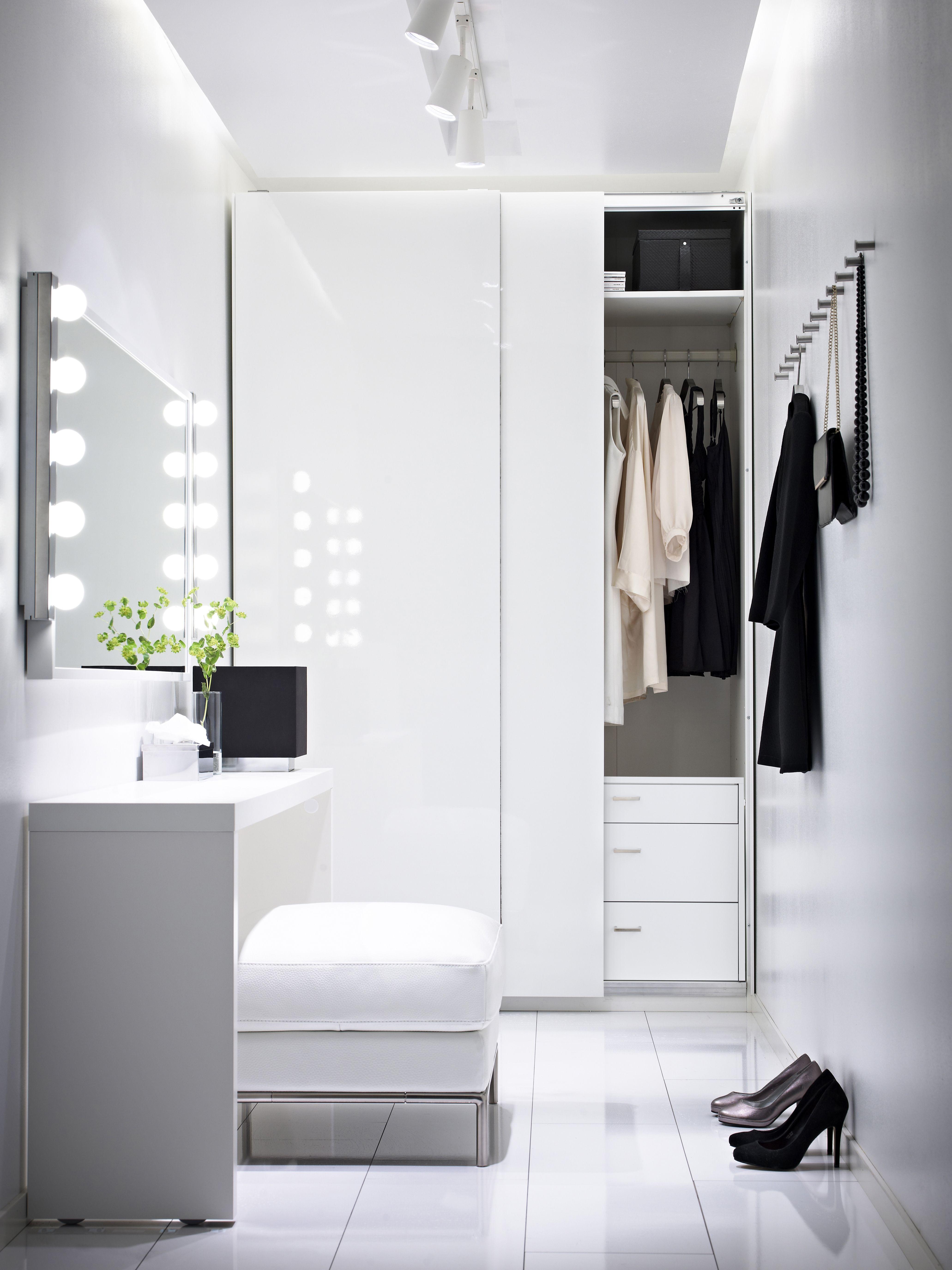 pax kleiderschrank, weiß, hasvik hochglanz/weiß | malm, Schlafzimmer entwurf