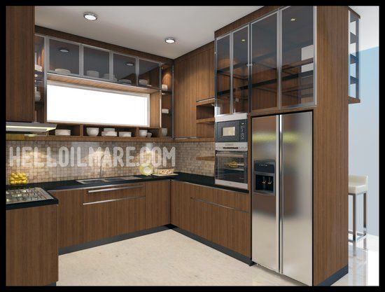 3D Design, Interior, Kitchen Set, Dapur Bersih, Dapur