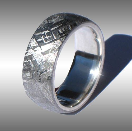 Pin By J Thompson On I M Engaged Yay Meteorite Ring Unusual Wedding Rings Mens Ring Designs