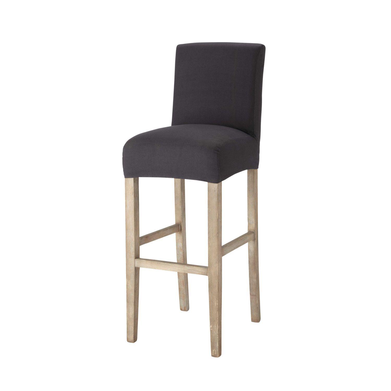 Housse De Chaise De Bar En Coton Anthracite Chaise Bar Housse De Chaise Chaise
