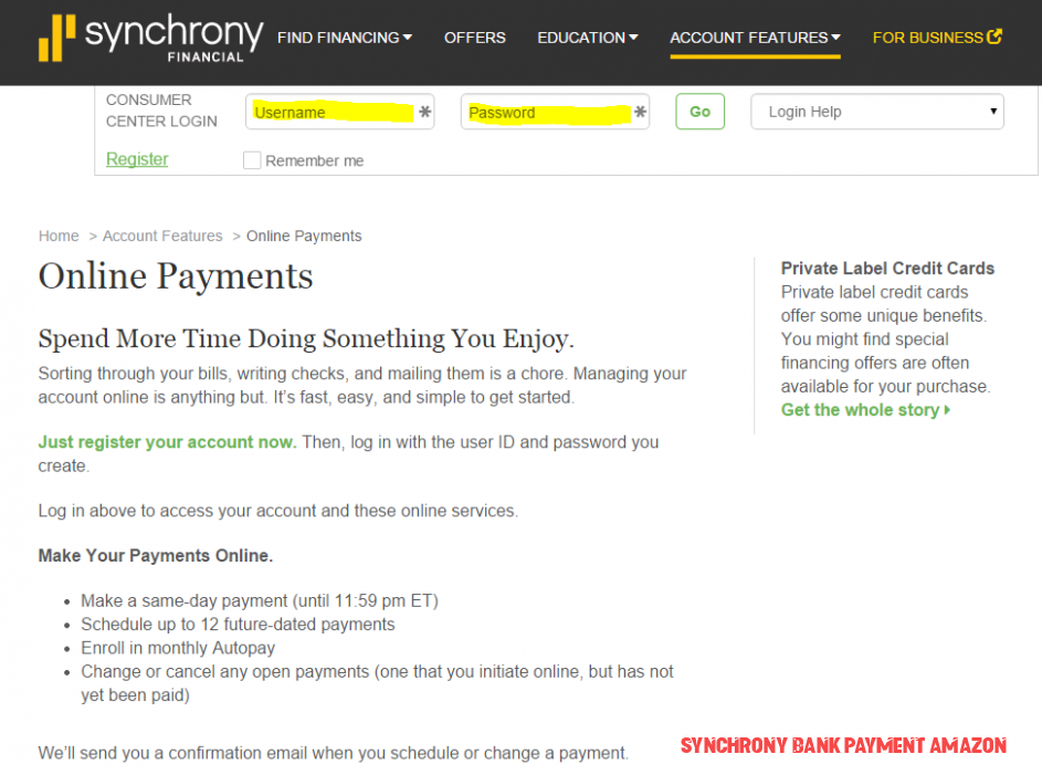 All You Need To Know About Synchrony Bank Payment Amazon
