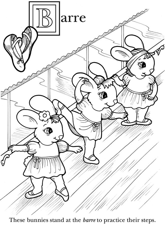 The Animal Babies ABC Book of Ballet Dover Publications Coloring - best of fairy ballerina coloring pages
