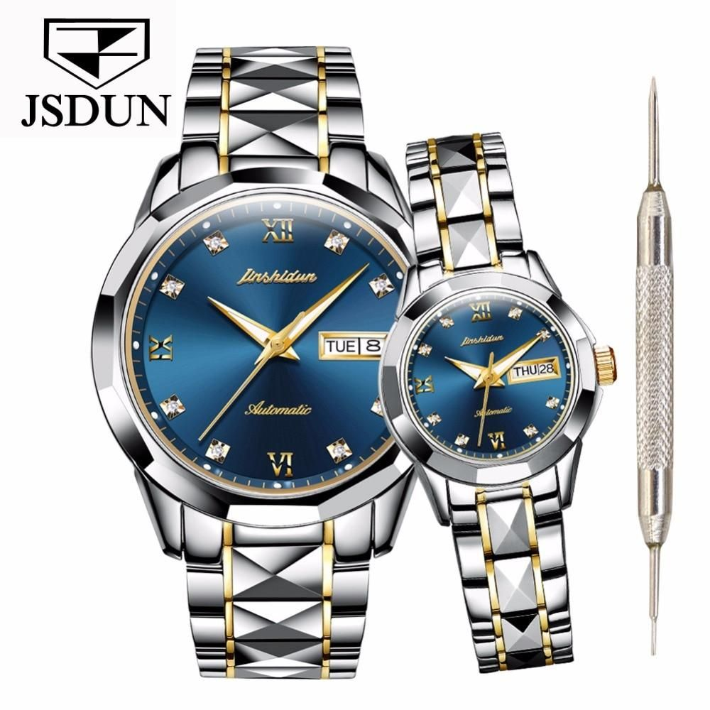 Couple's Luxury brand Waterproof Tungsten stainless steel
