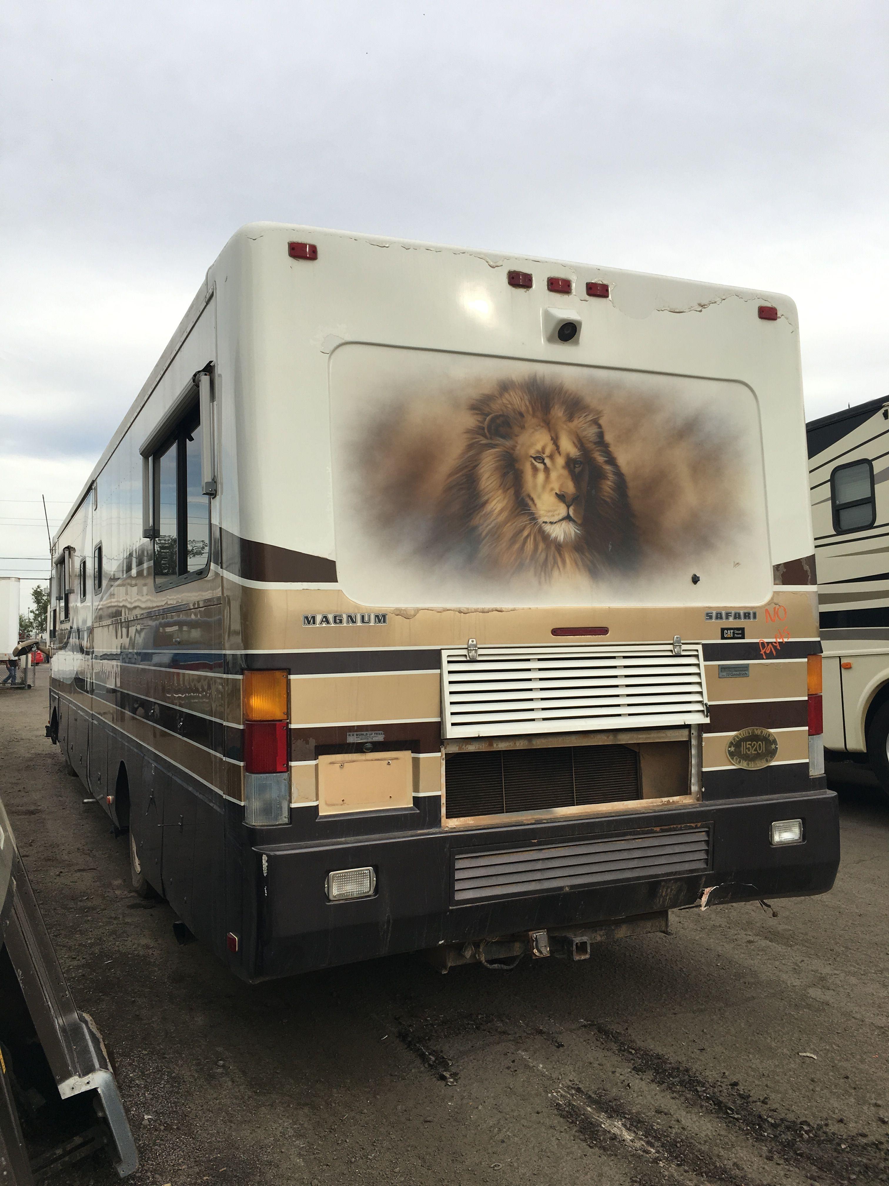 Safari rolling in to Arizona RV Salvage in Phoenix AZ