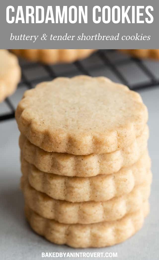 Cardamom Cookies #shortbreadcookies