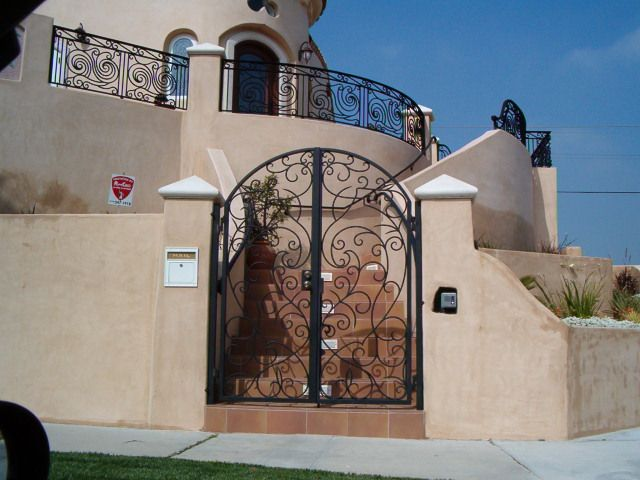 14 Custom Pedestrian Gate Walkway Handmade Wrought Iron
