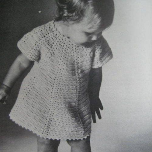 Vintage Crochet Baby Dress Vila Srbija