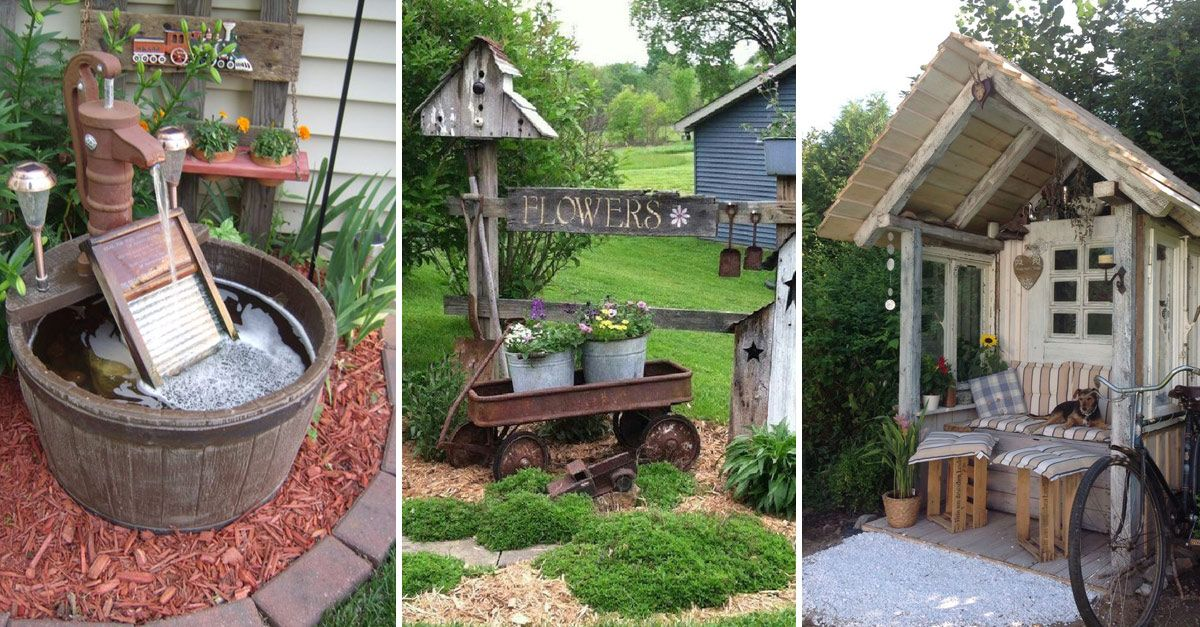 30 Simple And Rustic Diy Ideas For Your Backyard And Garden Gardenholic In 2020 Backyard Garden Design Backyard Small Backyard Gardens