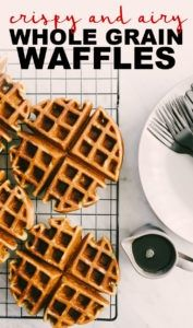 This post and the recipe card may contain affiliate links Please see our Privacy Policy and affiliate disclosureThese whole grain waffles are crispy on the outside and ca...