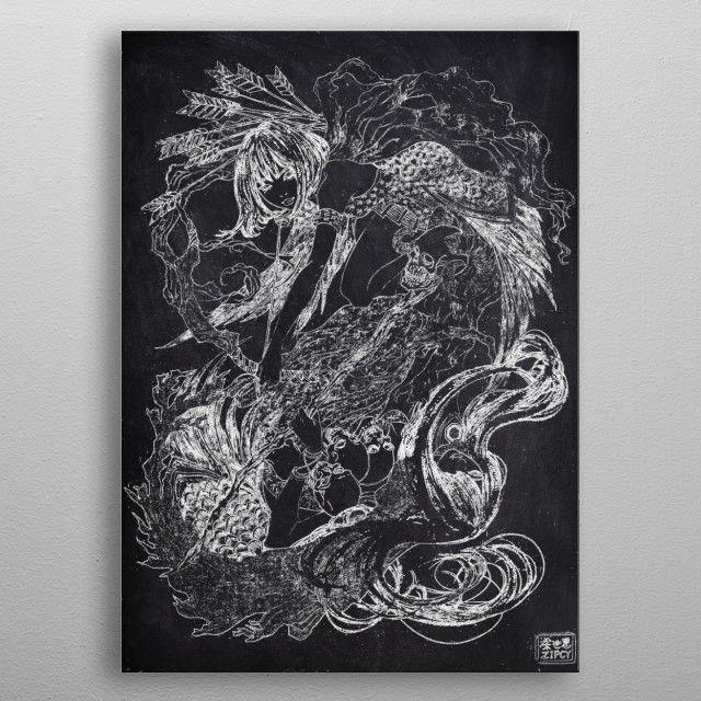 JAPANESE GIRL by FARKI15 DESIGN | metal posters - Displate | Displate thumbnail